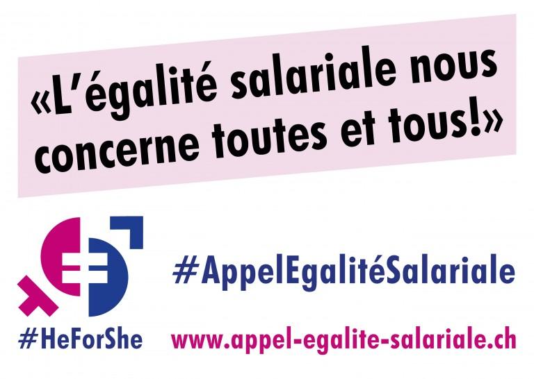 Appel à l'égalité salariale